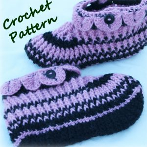 ladies-slippers-crochet-pattern-cover