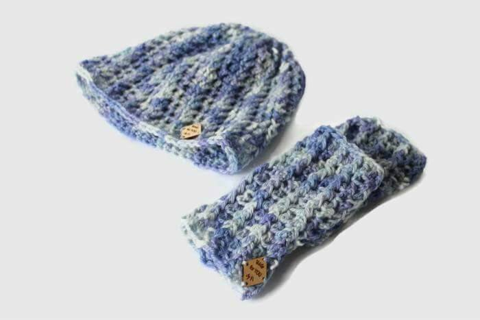 Beanie Set, Beanie and gloves set