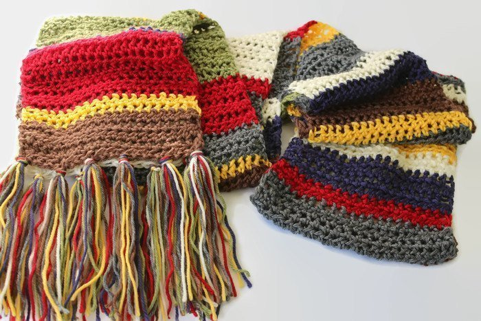 Dr Who fan scarf, Extra Long Scarf