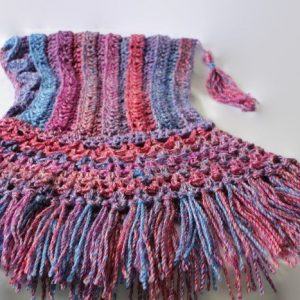 Hooded Scarf, Fringed cowl