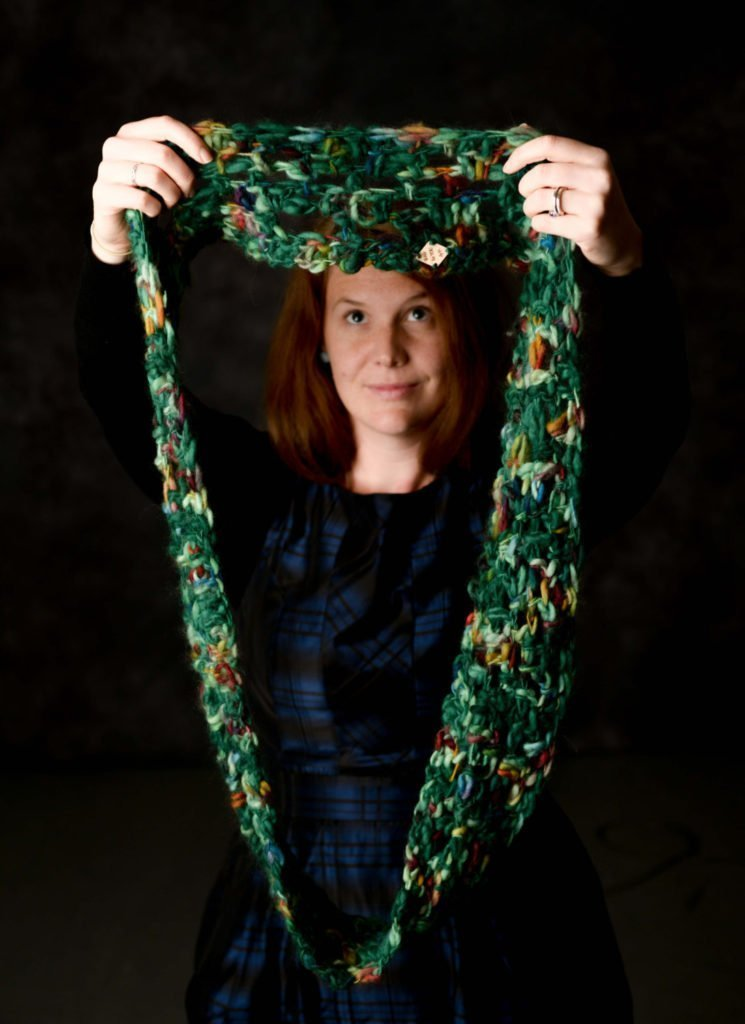 Merino Infinity Scarf, Crochet Scarf