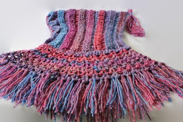 PDF DOWNLOAD - Fringed Hood with Tassel - Intermediate Crochet Pattern, Original Design