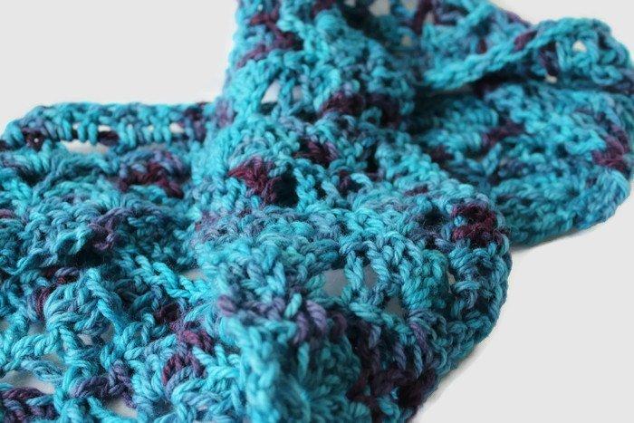 Turquoise Scarf, Turquoise Purple