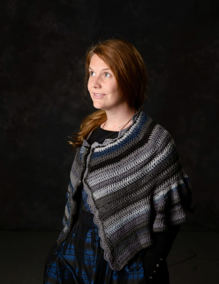 Danube Cape Crochet Pattern - a cute cape which flips out at the elbows