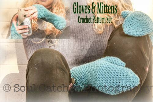 EasyFit Hands crochet patterns - fingerless gloves and mittens