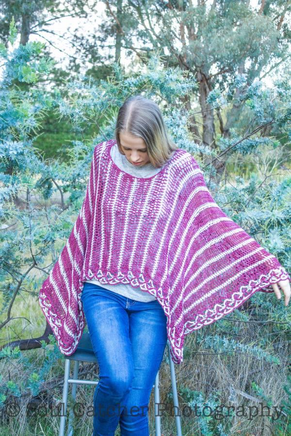 Lattice Poncho Crochet Pattern