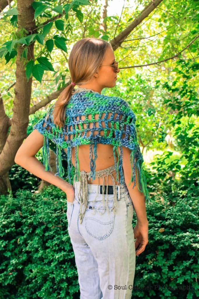 Camelot Capelet Crochet Pattern - Sweet Chunky with a Long Fringe