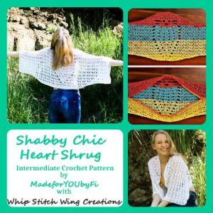 Shabby Chic Heart Shrug Crochet Pattern