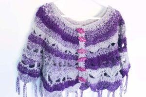 Traverse My Heart Ponchette - Purple