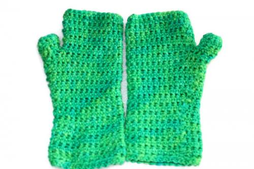 Inside Out Mitts Crochet Pattern Stretchy Comfortable And Reversible