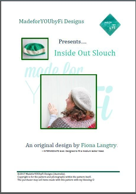 Inside Out Slouch Crochet Pattern - Cover