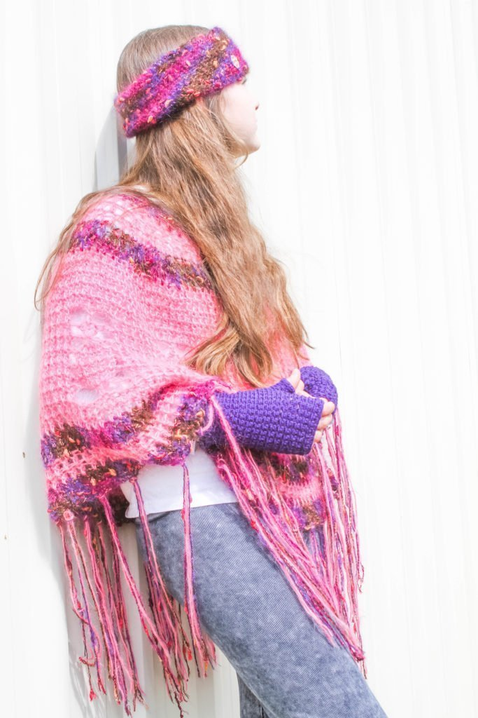 Pineapple Poncho - Pink