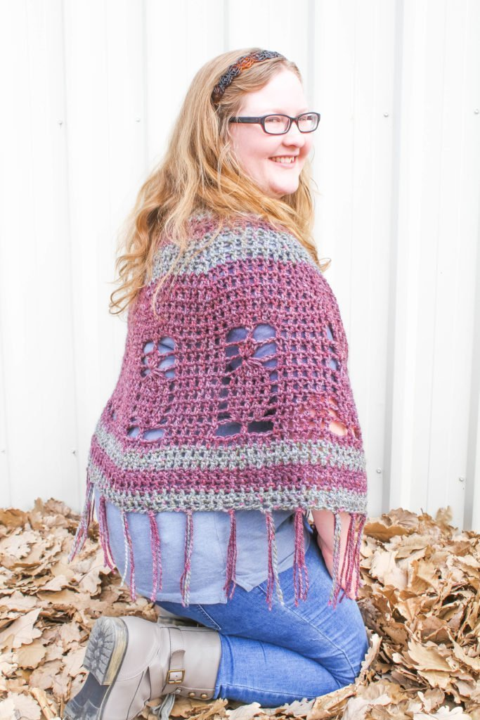 Pineapple Poncho - Purple