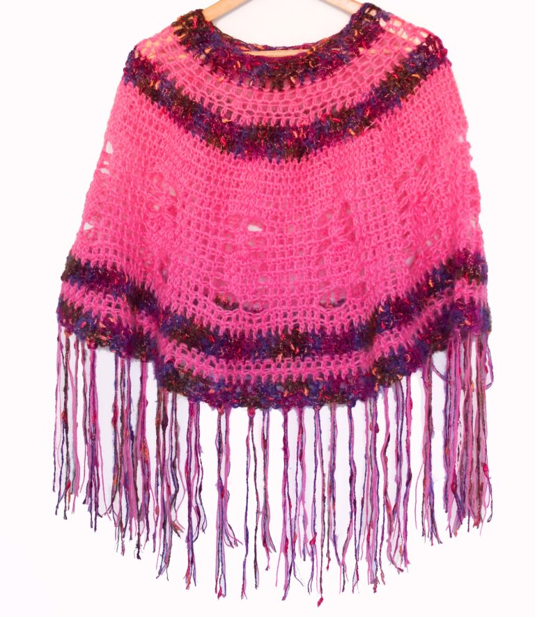 Pink Pineapple Poncho