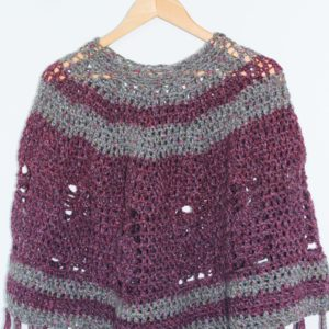 Purple Pineapple Poncho