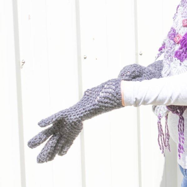 Grey EasyFit Fingered Gloves