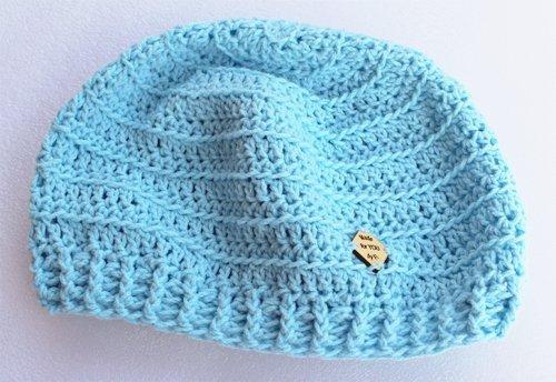 Back loop Pastel Blue Valley Beanie