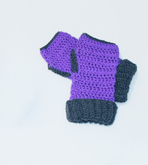 Cuffed Fingerless Gloves
