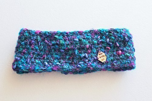 Blue Mohair Simple Headband