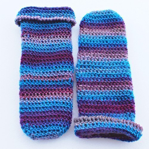 Purple & Blue Comfy Socks in Acrylic