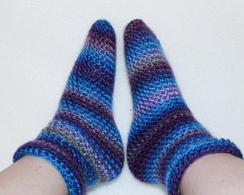 Blue Comfy Socks in Acrylic