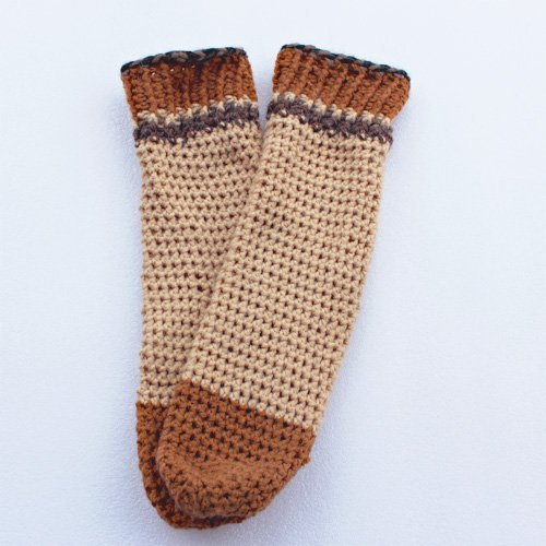 Brown Comfy Socks in Alpaca