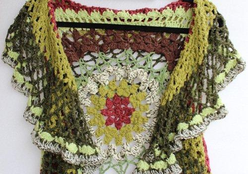 Olive Green Lotus Mandala Vest