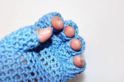 Sky Blue FingerTip Gloves