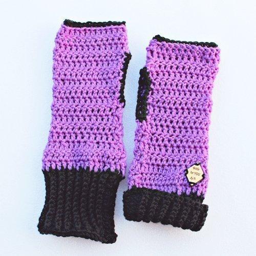 purple & black be smart mitts