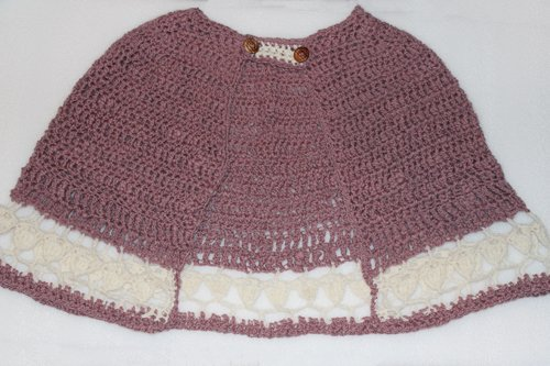 Pink & White String Of Hearts Cape
