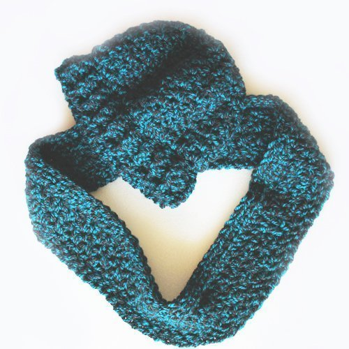 Funhouse Set in Nordic Teal - Slouchy Beanie and Infinity Scarf