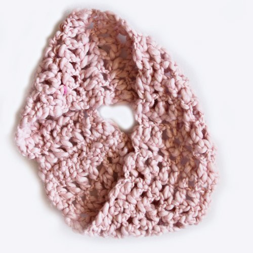 Ice Waffle Neck Warmer - Pink Cowl