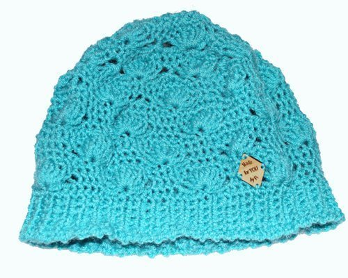 Shell B Mine Beanie - beautifully stylish and perfect for gifts or yourself - aqua on white