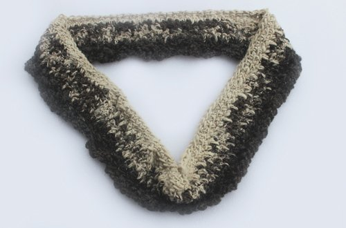 Special Funhouse Cowl - an infinity scarf created using Reclaimed Alpaca, Mohair & Icelandic Wool, with a little added sparkle for fun.
