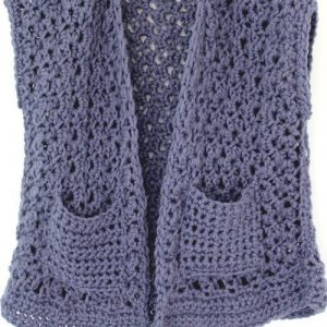 Chunky Lace Vest - close up