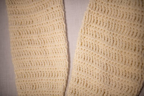 Bamboo Leg Warmers laid flat - up close 1