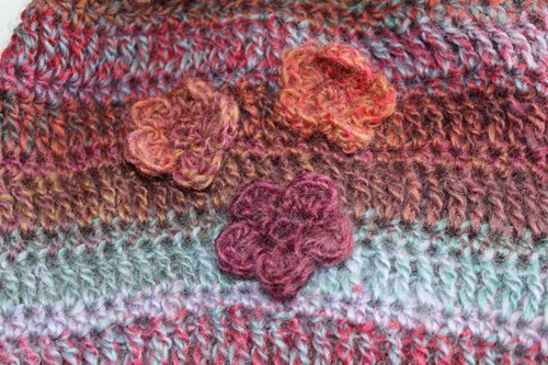 Pink Rainbow Legwarmers - close up of flowers