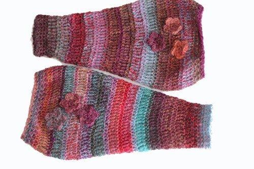 Pink Rainbow Legwarmers - flat lay 2