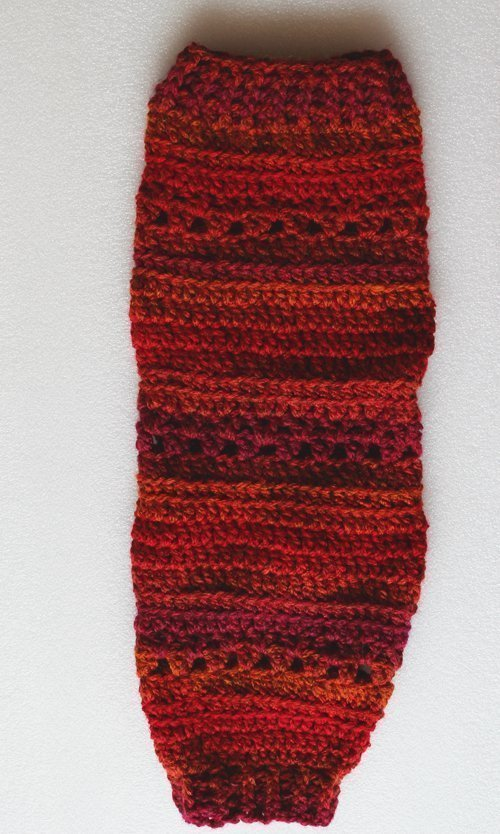 Sunset Heartland Leg Warmers - Flat lay - full length of lacy version (close)