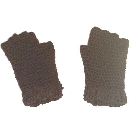 Finger Gloves - chocolate brown - flat lay