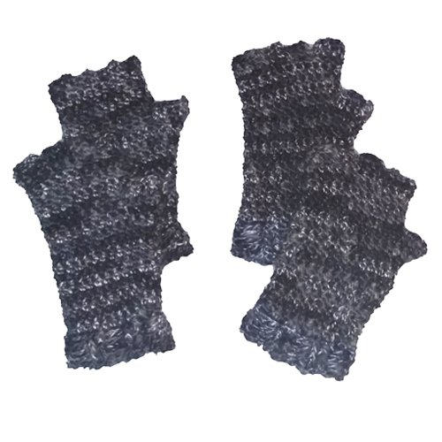 Finger Gloves - grey marle - 2 pairs flat lay