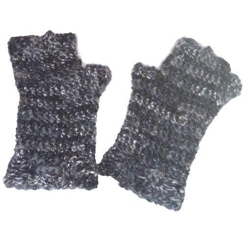 Finger Gloves - grey marle - flat lay