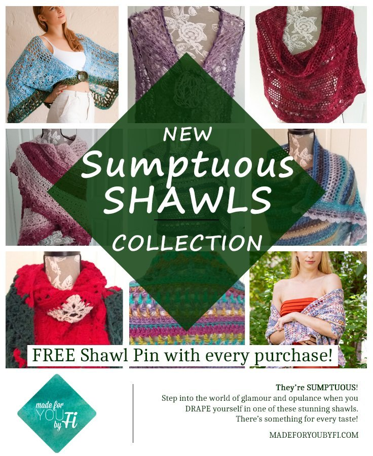 New Collection Collage - Sumptuous Shawls Collection from MadeforYOUbyFi - April 2021