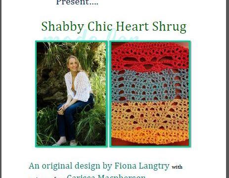 Shabby Chic Heart Shrug - Pattern Cover